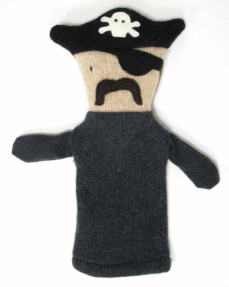 Reclaimed Wool Puppet - Pirate