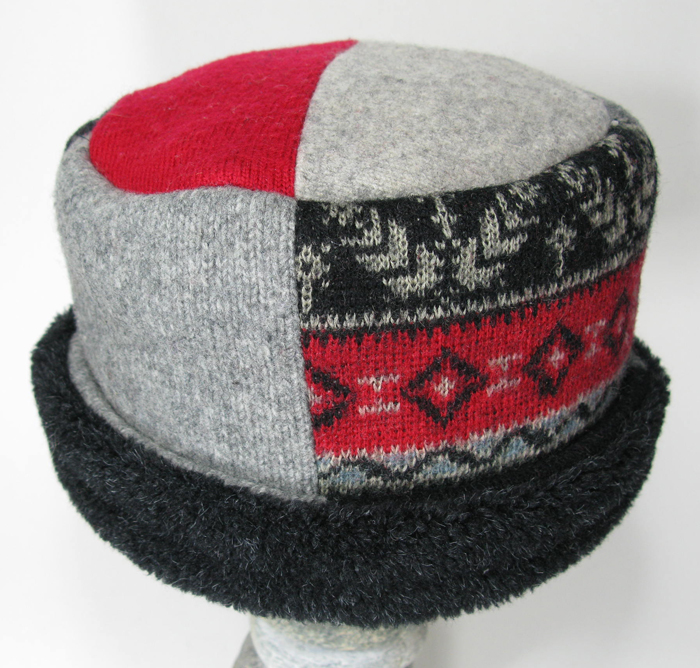 Rolled Pillbox Hat - Recycled Wool