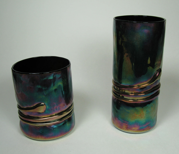Hand-blown Glasses in Purple