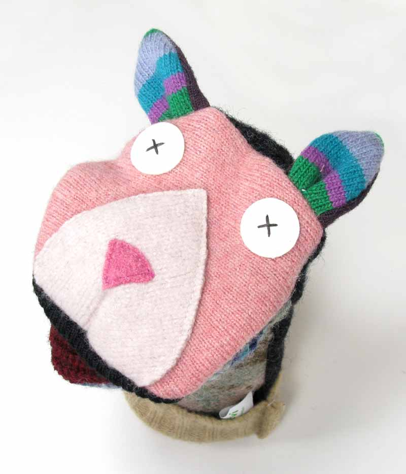 Reclaimed Wool Puppet - Cat