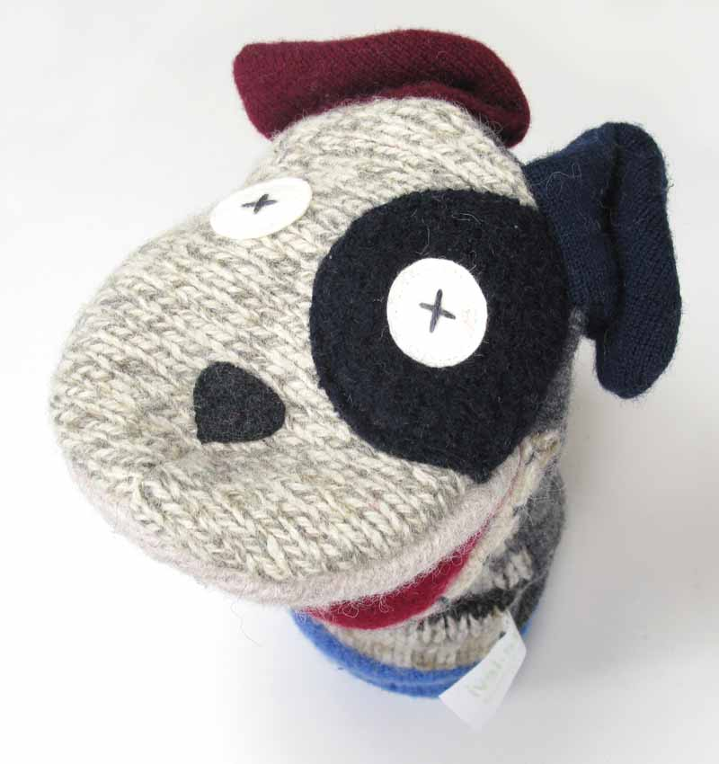Reclaimed Wool Puppet - Dog