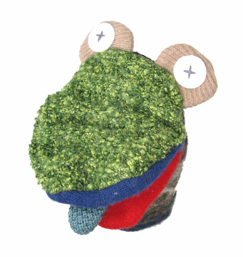 Reclaimed Wool Puppet - Frog