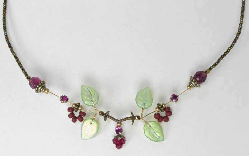 Pixie Necklace in Cranberry