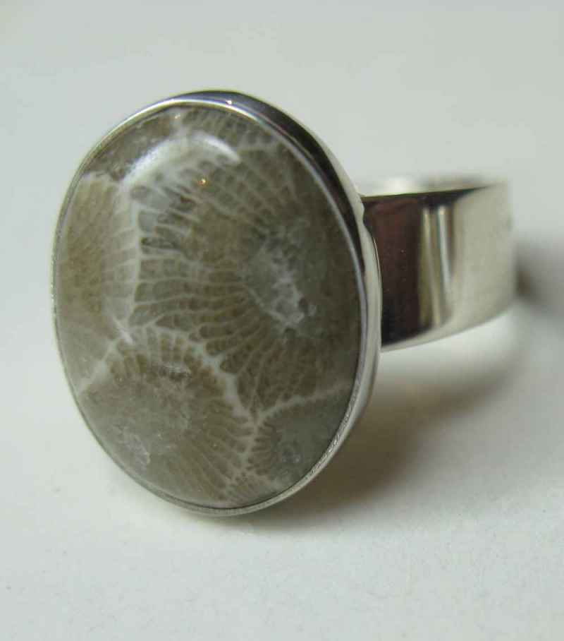 Petoskey Stone Ring in Sterling Silver
