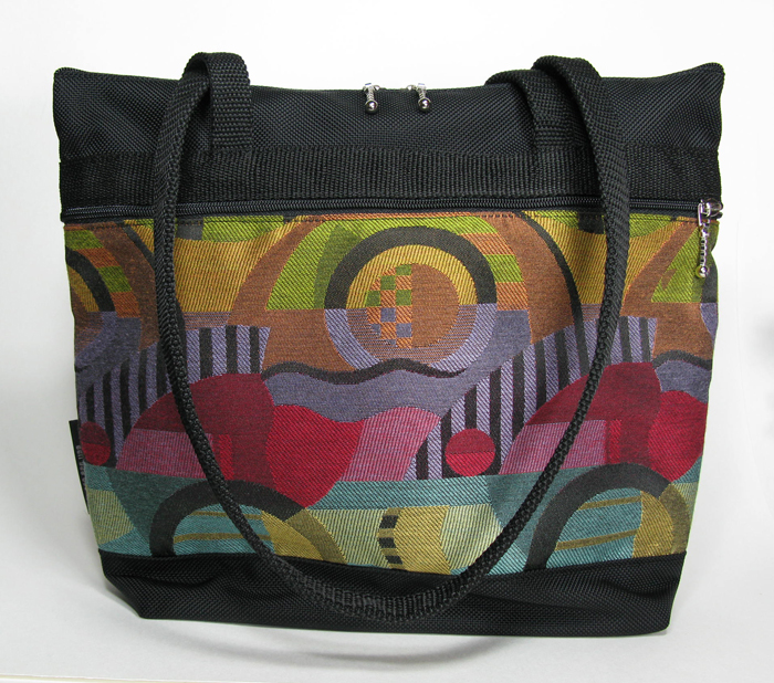 Purse Sized Tote - Kandinsky Brights