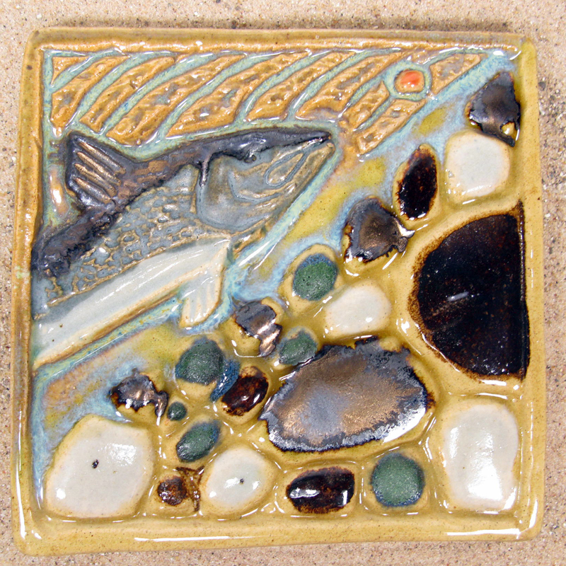 Salmon Eggs Tile