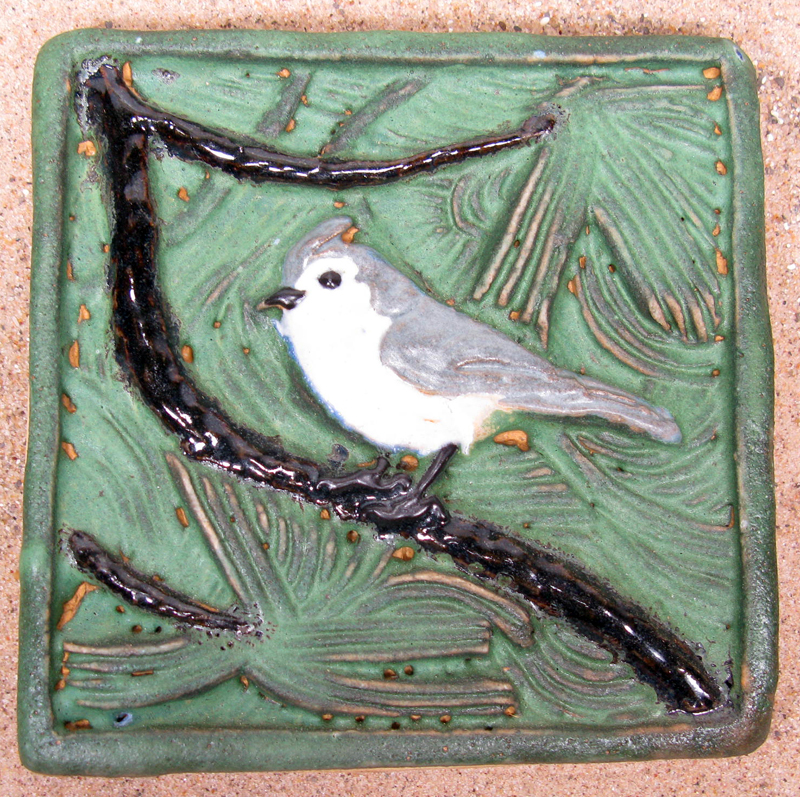 Tufted Titmouse Tile