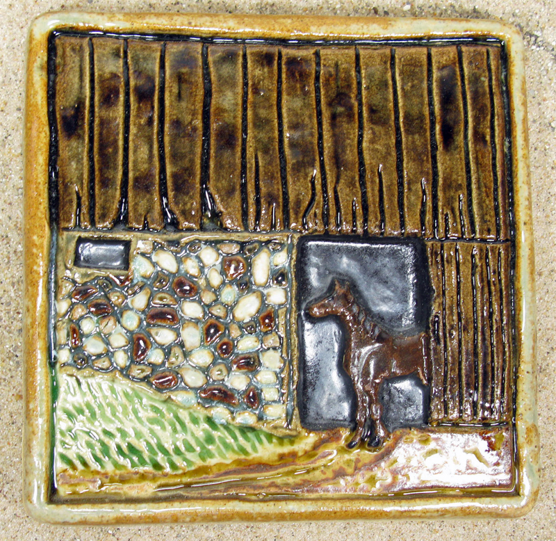 Horse and Barn Tile