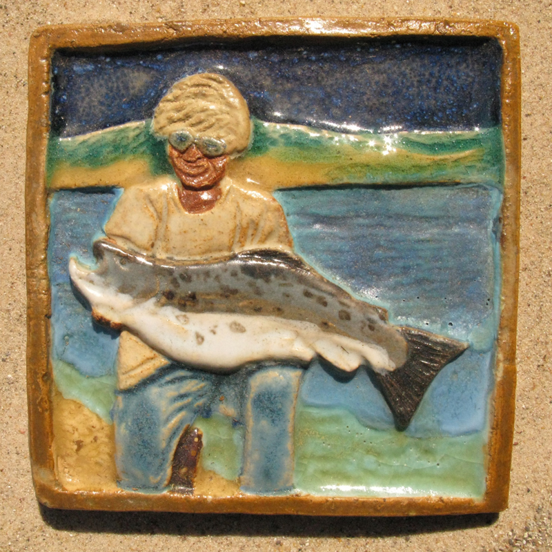 State Record Brown Trout Tile