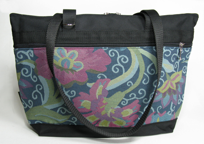 Large French Satchel Tote - Asian Teal