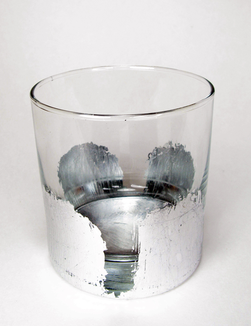 Silver Leaf Cocktail Glass