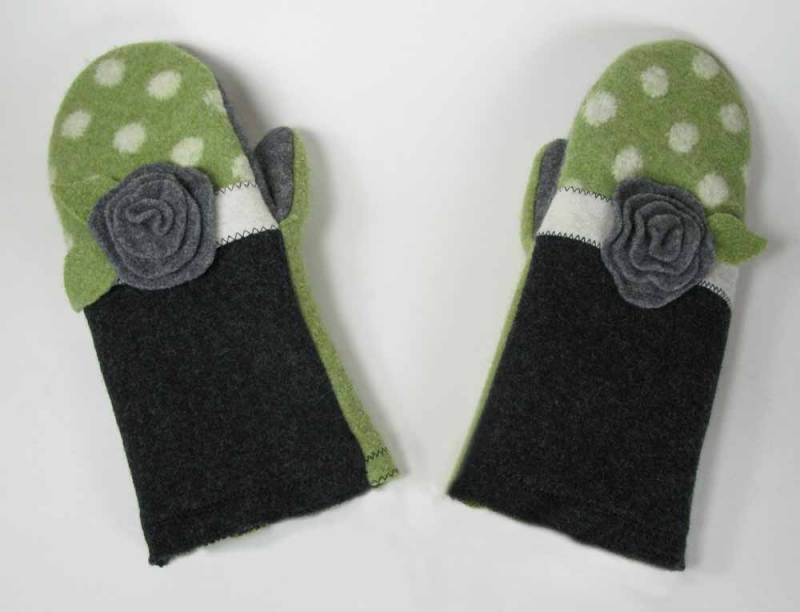 New Wool Mittens - Posy