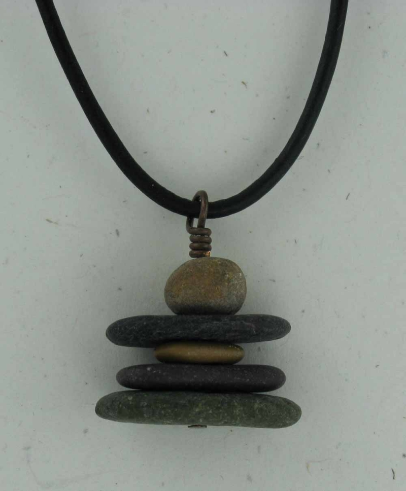 Stone Inuk Cairn Necklace