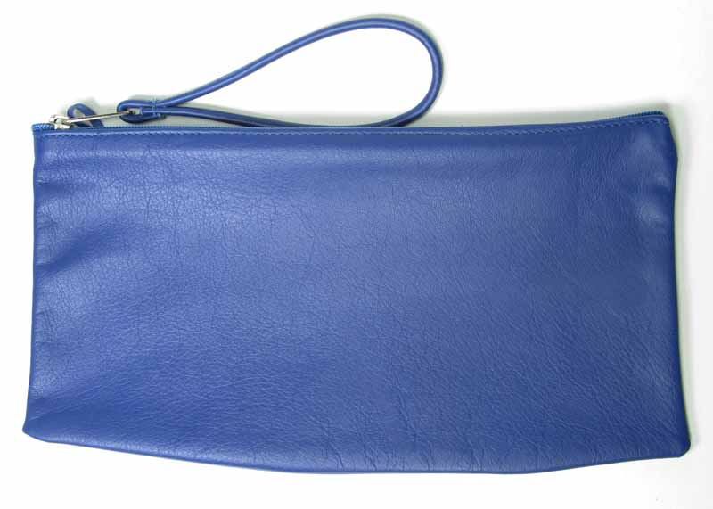 Large Zip-top Wristlet in Navy
