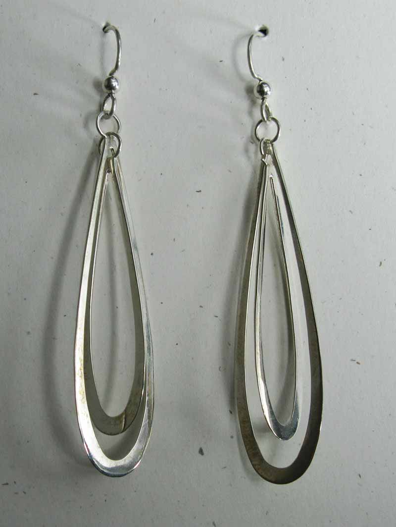 Sterling Earrings with Long Ovals