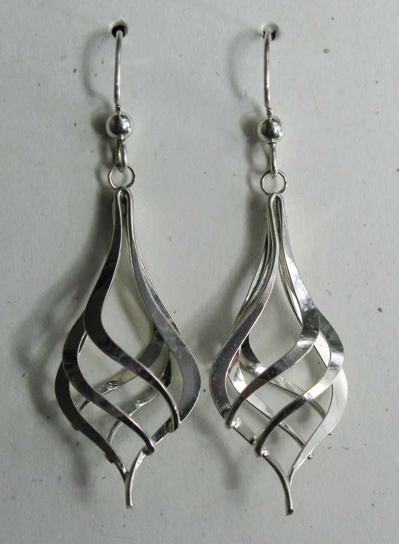 Swirl Ornament Sterling Earrings