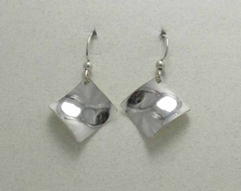 Wobbly Square Sterling Earrings