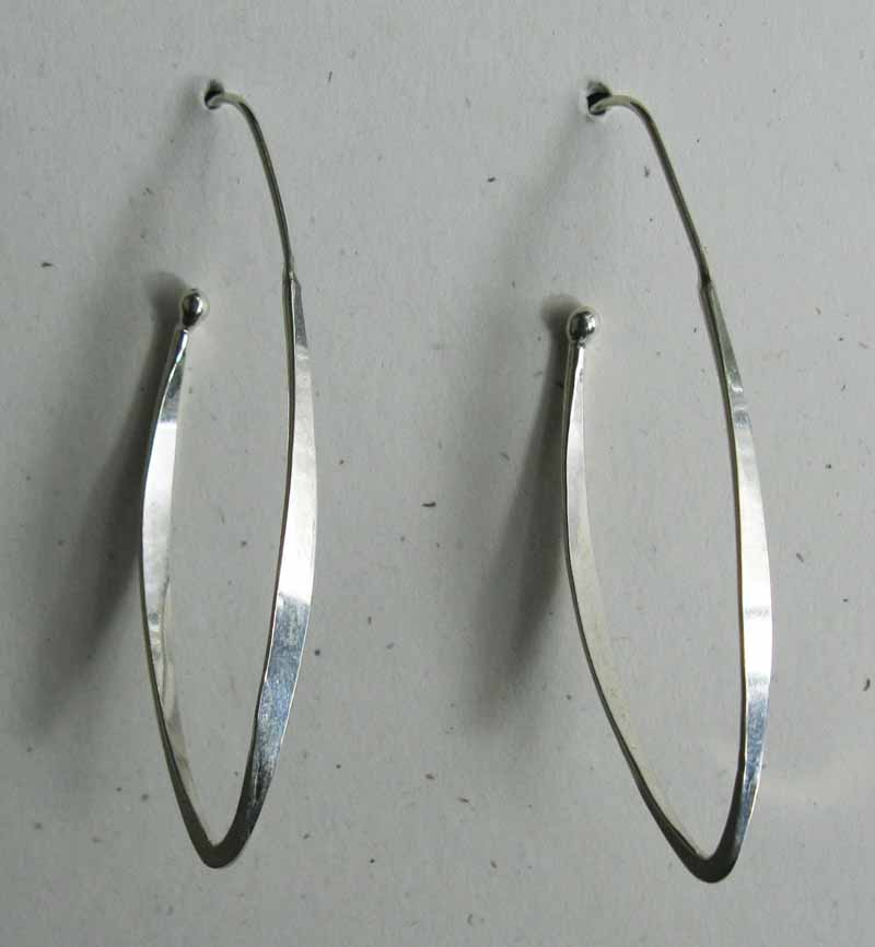 Open Oval Sterling Hoops