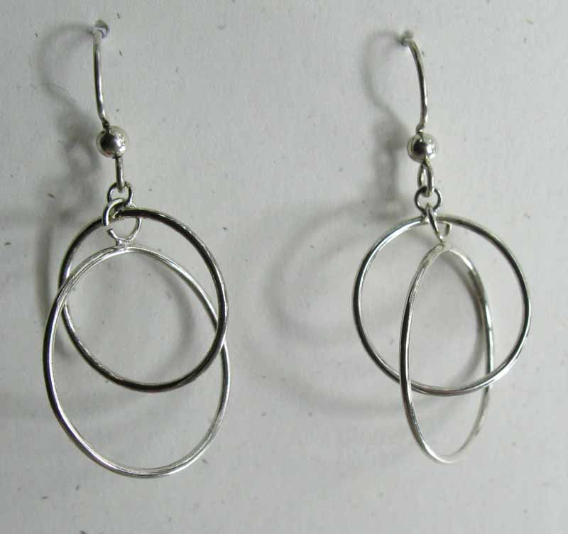 Stacked Hoop Earrings in Sterling Silver