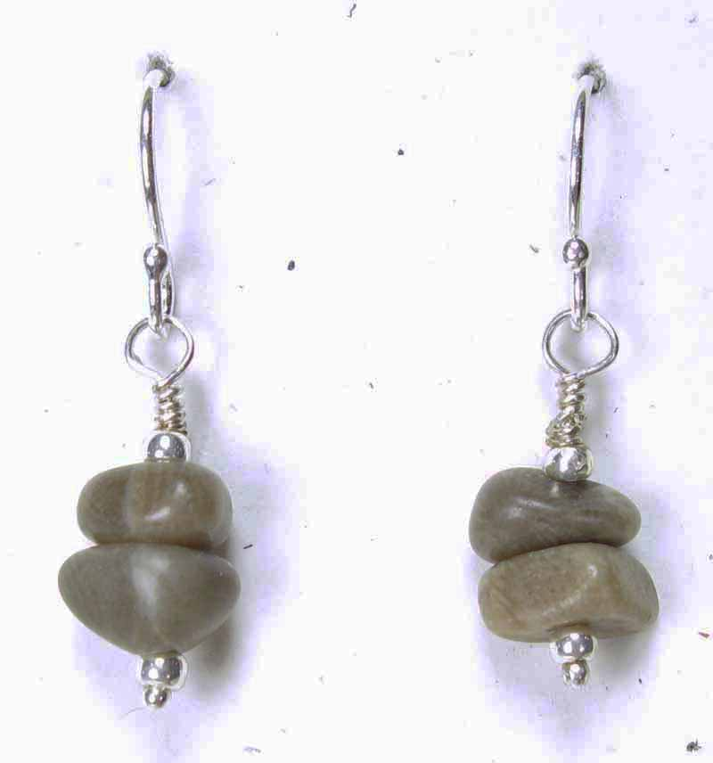 Petoskey Stone Cairn Earring