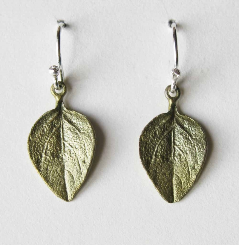 Basil Leaf Wire Earrings