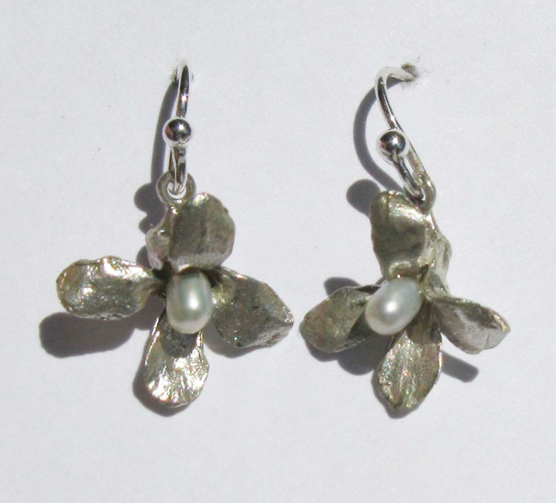 Wildflower Earring with Pearl