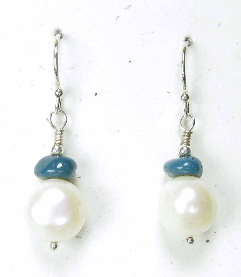 Pearl and Leland Blue Earrings