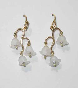 Dainty Lily of the Valley Earrings