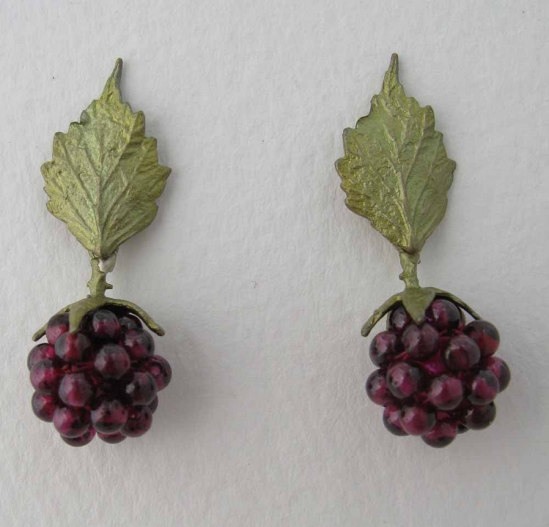 Raspberry Post Earrings