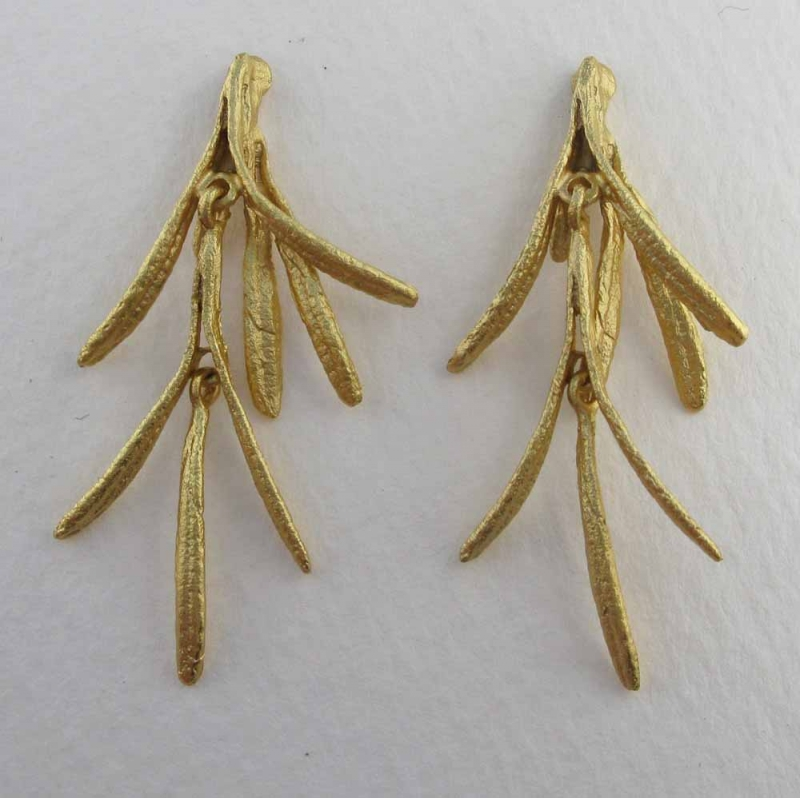 Rosemary Post Earring Gold or Bronze