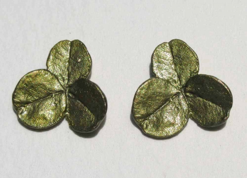 3 Leaf Clover Post Earrings