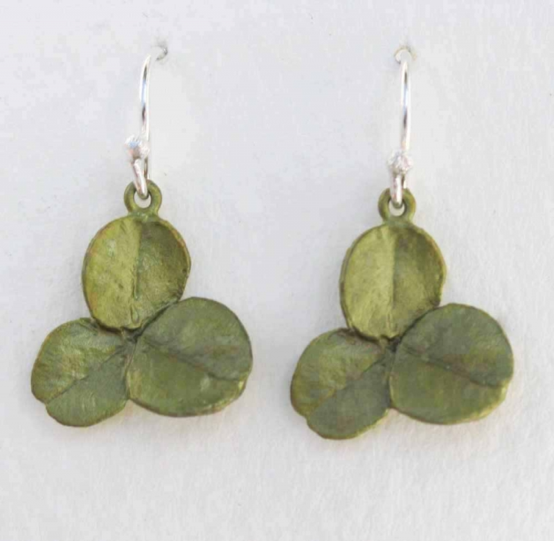 3 Leaf Clover Drop Earrings