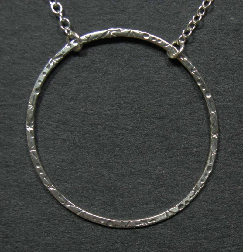 Circle of Stars Silver Necklace