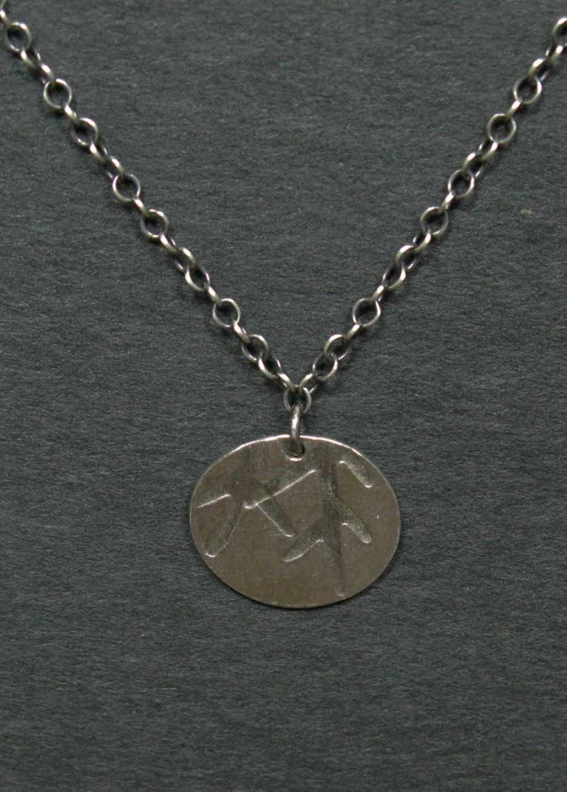 Silver Necklace with Pinebow Imprint