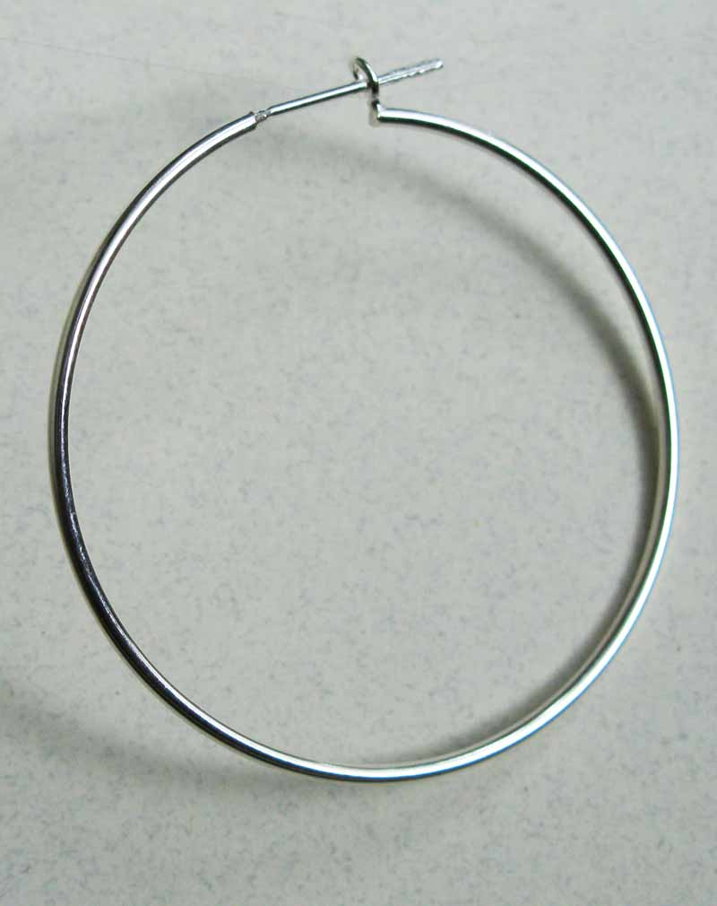 Large Thin Hoop Earrings in Sterling Silver
