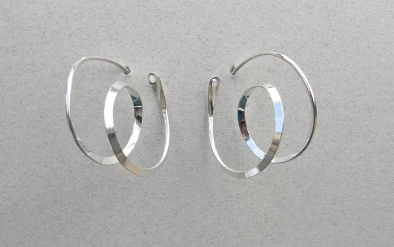 Curlicue Hoop Earrings in Sterling Silver