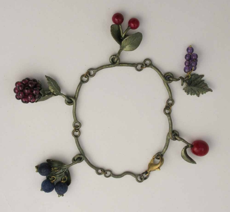 Fruit Charm Bracelet in Bronze