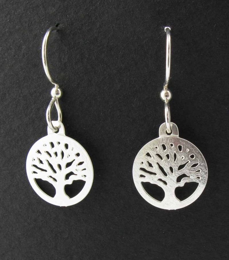 Cut out tree earrings