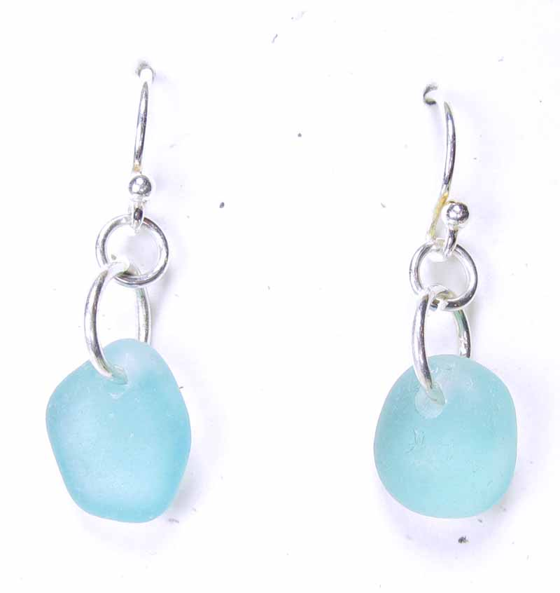Rare Color Beach Glass Earrings