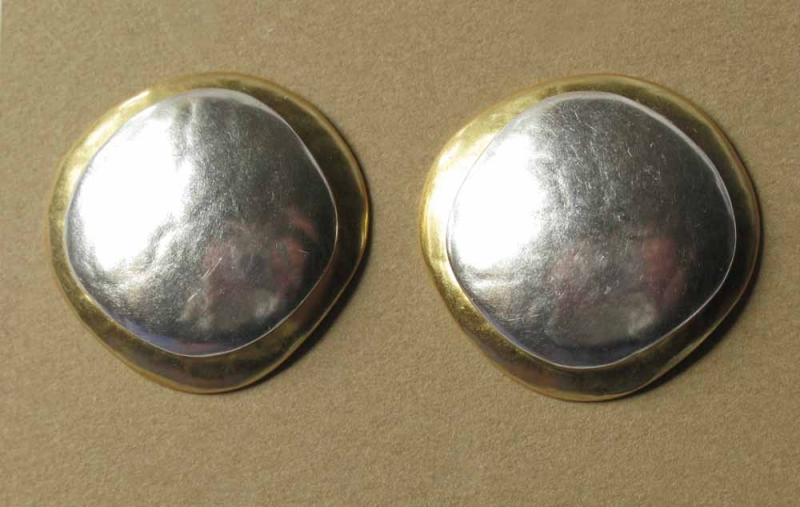 Silver/Bronze Clips or Post Earrings