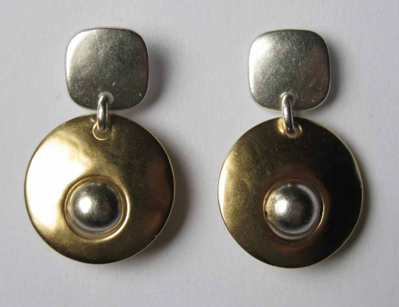 Post Drop Earrings in Silver or Mixed Metals