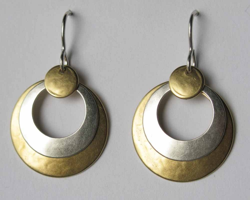 Silver/Gold Drop Earrings