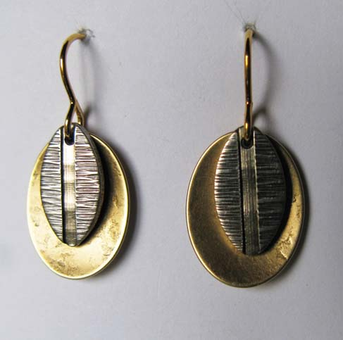 Small Textured Leaf Earrings