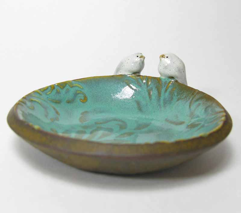 Bird Accessory Bowl in Turquoise