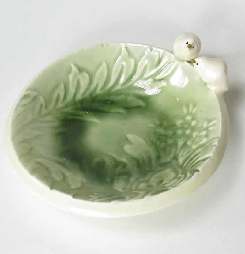 Bird Accessory Bowl in Sage