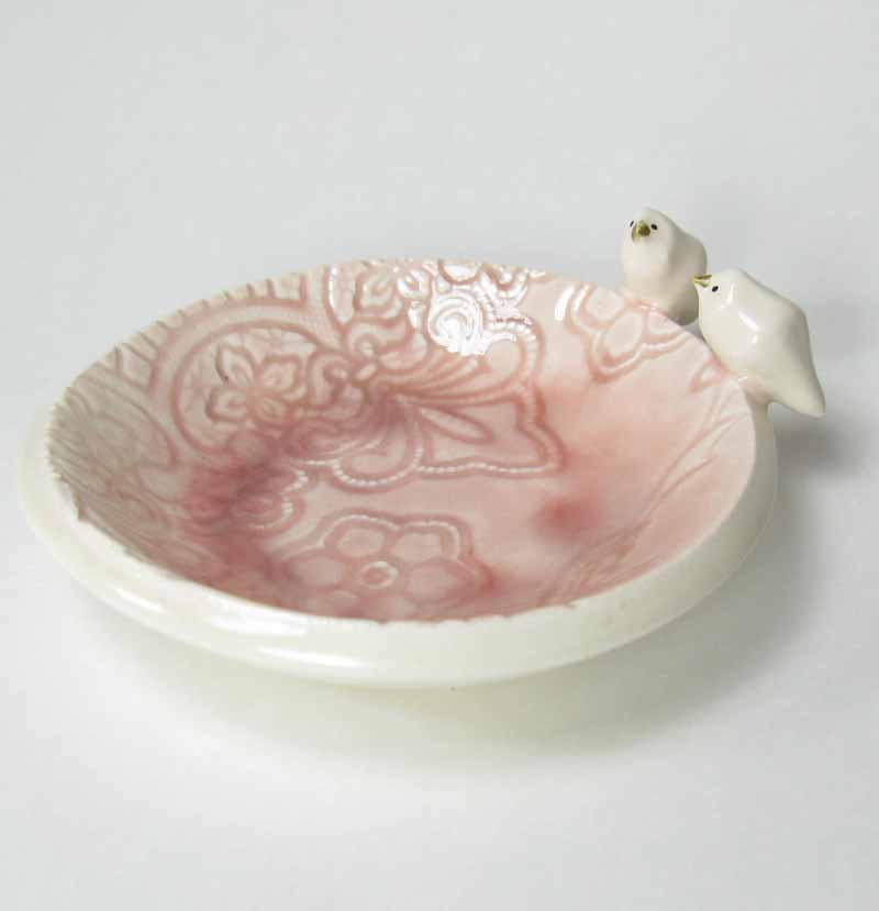 Bird Accessory Bowl in Blush
