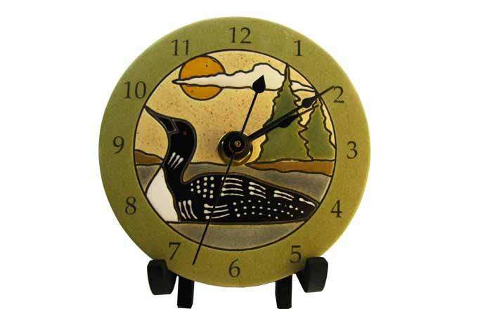 Clock in Porcelain - Loon