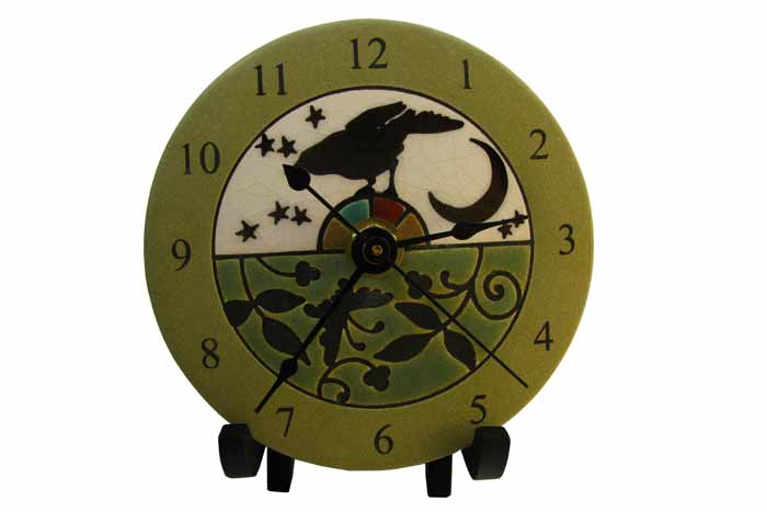 Clock - Bird Tapestry