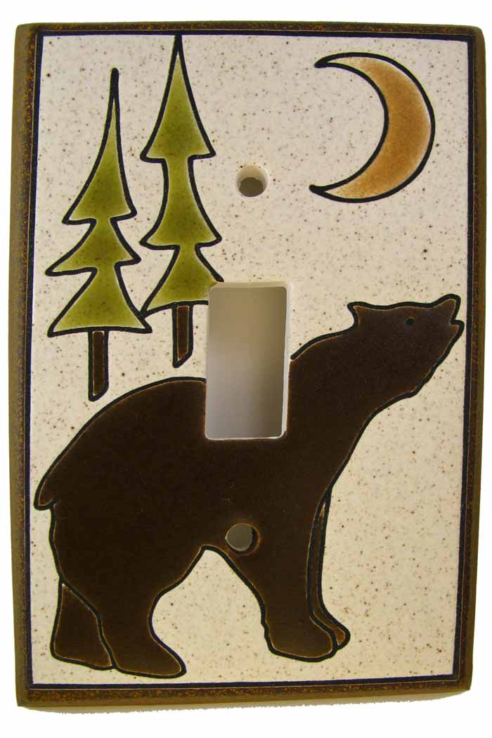 Bear Pines Moon Switch Plate