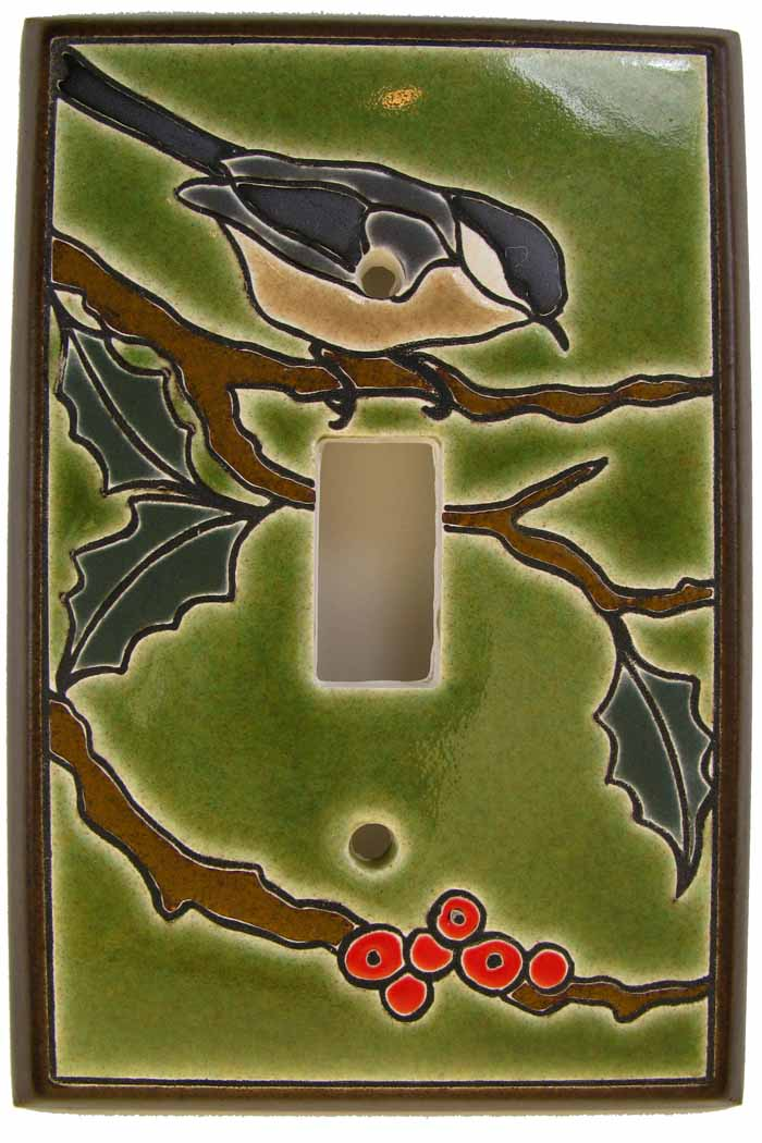 chickadee switch plate